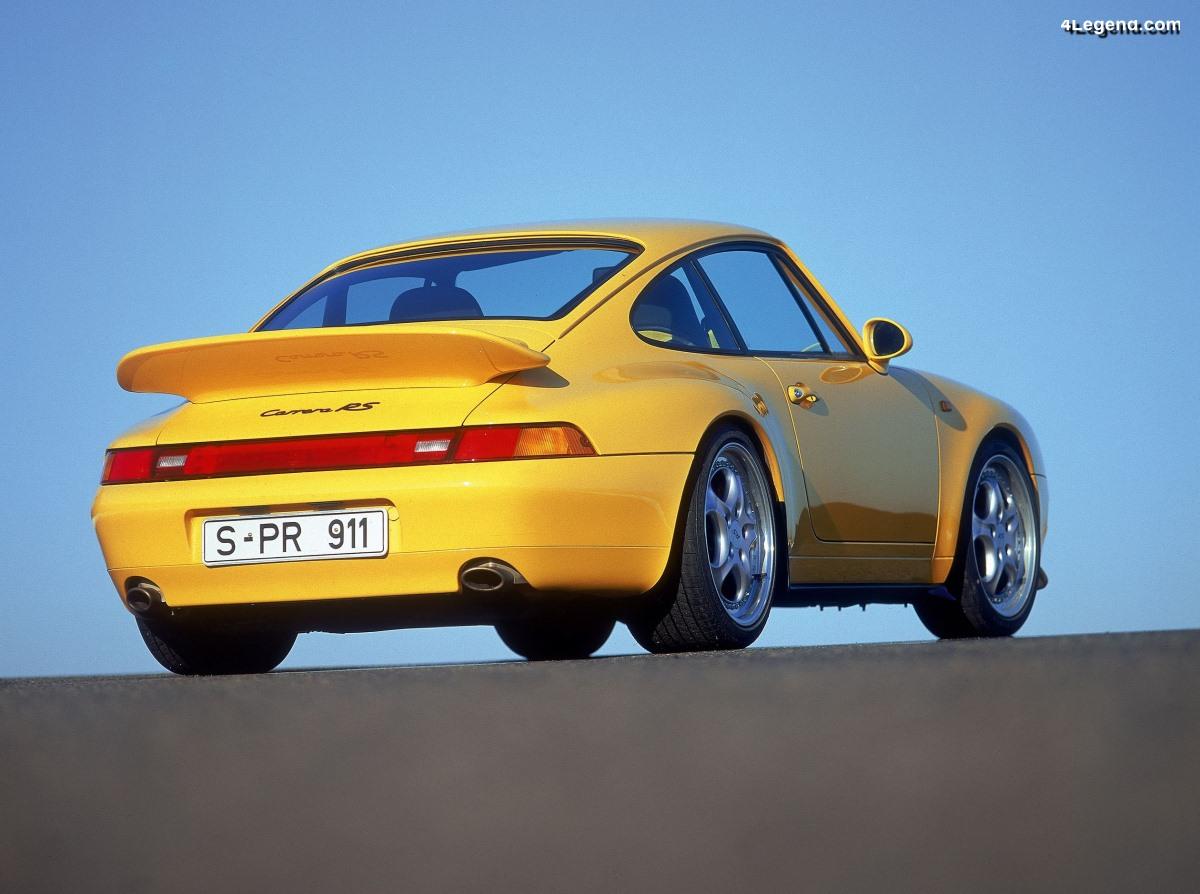 Porsche 911 Carrera RS (Type 993) - Produit de 1995 à 1996 à 1 014 exemplaires