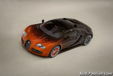 Bugatti présente une oeuvre d´art exceptionnelle - Interprétation de la Bugatti Grand Sport par l´artiste Bernar Venet