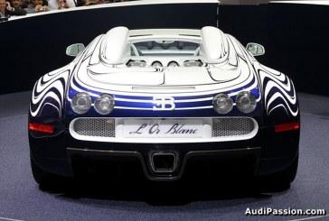 IAA 2011 – Bugatti présente sa pièce unique, la Veyron Grand Sport « L'Or Blanc »