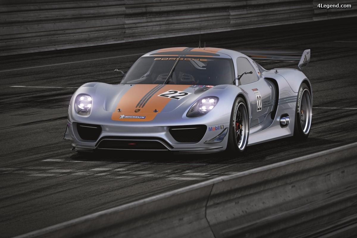 Porsche 918 RSR - Un laboratoire de course doté d'une hybride encore plus performante