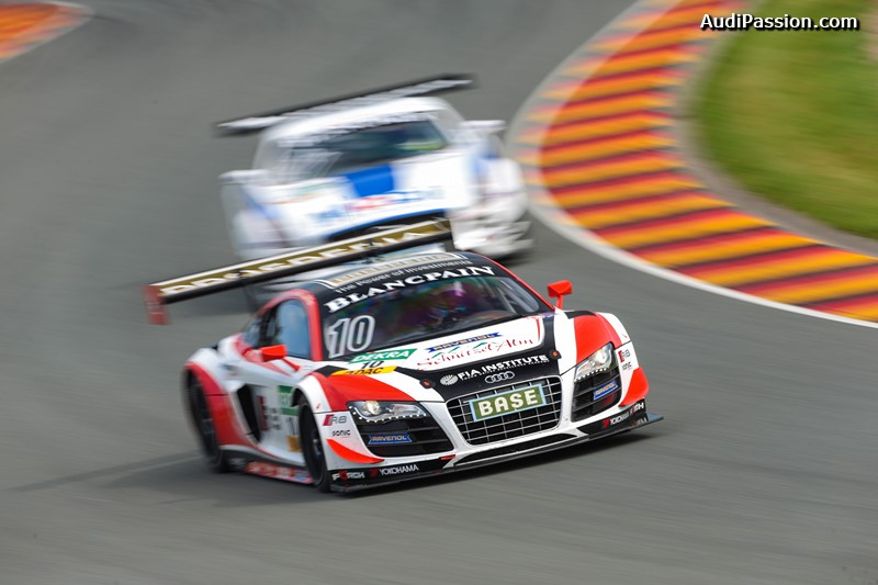 double-podium-audi-r8-lms-ultra-adac-gt masters-sachsenring-2014