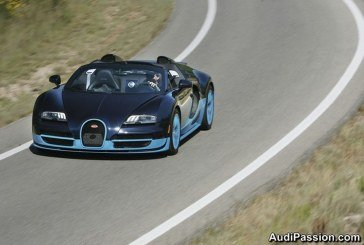 Présentation en Espagne de la Bugatti Veyron 16.4 Grand Sport Vitesse – le roadster le plus puissant de tous les temps, développant 1 200 ch
