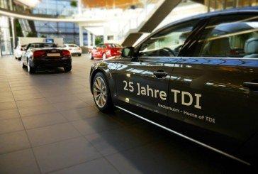 Exposition 25 ans de TDI à l'Audi Forum Neckarsulm