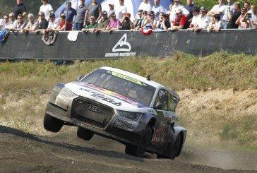 Podium pour le pilote Audi Mattias Ekström dans la manche allemande du Championnat du Monde de Rallycross