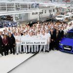Jubilé de production : 20 ans d'Audi A4 à l'usine d'Ingolstadt