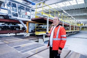 Logistique Audi: 30 ans de plate-forme de chargement des wagons