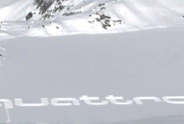 Vidéo Audi quattro Snow Art – un artiste s'exprime dans la neige en Suisse