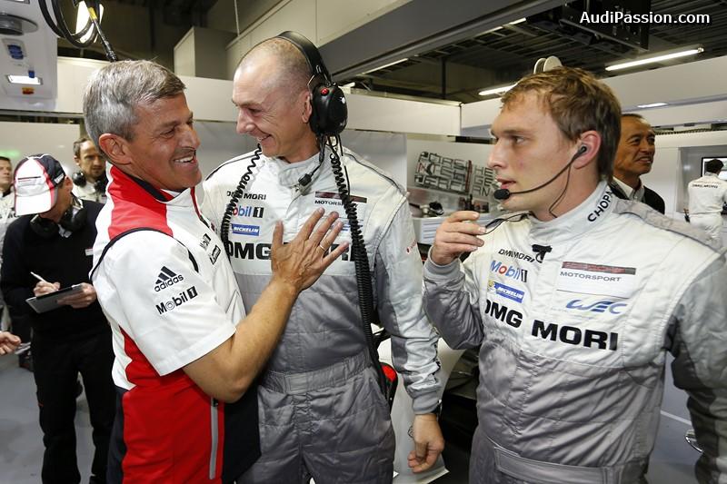 Fritz Enzinger, Leiter LMP1 (l), Porsche Team