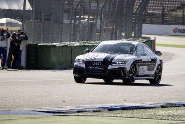Roulage sans conducteur de l'Audi RS 7 concept sur le circuit d'Hockenheim