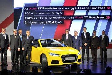 Audi Hungaria: Début de la production de la nouvelle Audi TT Roadster