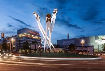 Porsche présente le projet d'une sculpture sur la Porscheplatz