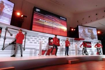 Les joueurs du FC Barcelona participent à l'Audi e-tron Challenge