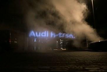 Disappearing Billboards – Campagne publicitaire originale de l'Audi h-tron avec de la vapeur d'eau