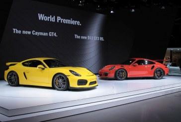 Genève 2015 - Première mondiale pour les Porsche Cayman GT4 et 911 GT3 RS