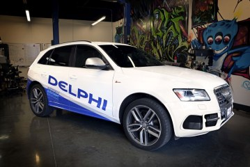 Traversée des Etats-Unis en Audi SQ5 autonome le 22/03/2015 par Delphi Automotive