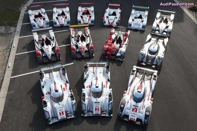 LeMans winning Audi race cars 2000 - 2014