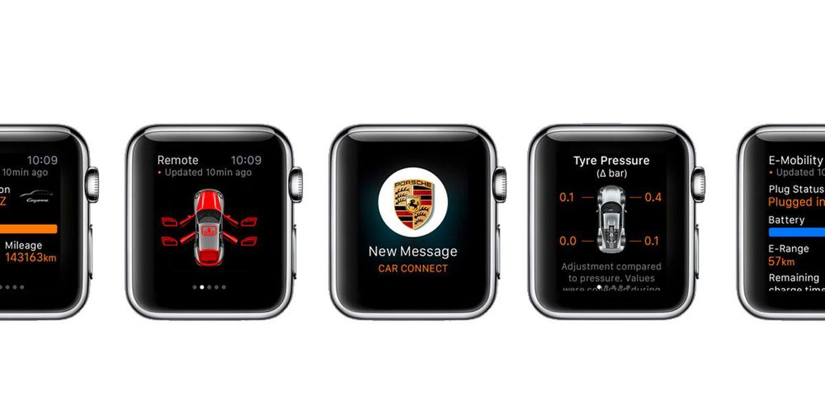 Application Porsche Car Connect - Commandez votre Porsche à distance sur l'Apple Watch
