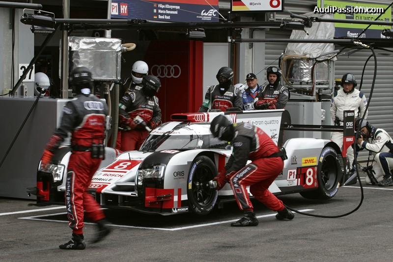Audi R18 e-tron quattro #8 (Audi Sport Team Joest), Lucas di Grassi, Loïc Duval, Oliver Jarvis