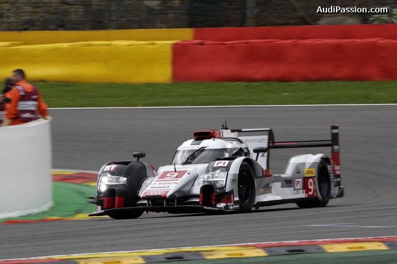 Audi R18 e-tron quattro #9 (Audi Sport Team Joest), Filipe Albuquerque, Marco Bonanomi, René Rast