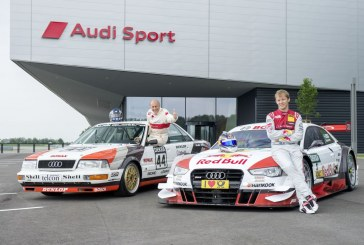 Audi RS 5 DTM aux couleurs de l'Audi V8 quattro DTM de 1990 pour fêter les 25 ans de sa victoire au Norisring