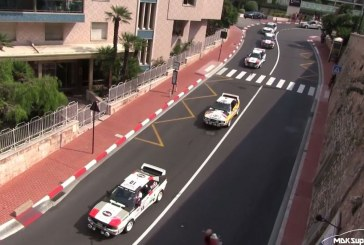Video d'un cortège d'Audi quattro et d'Audi Sport quattro rallye à Monaco