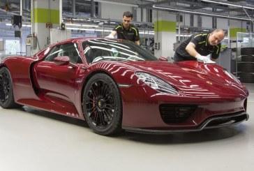 Fin de la production de la Porsche 918 Spyder