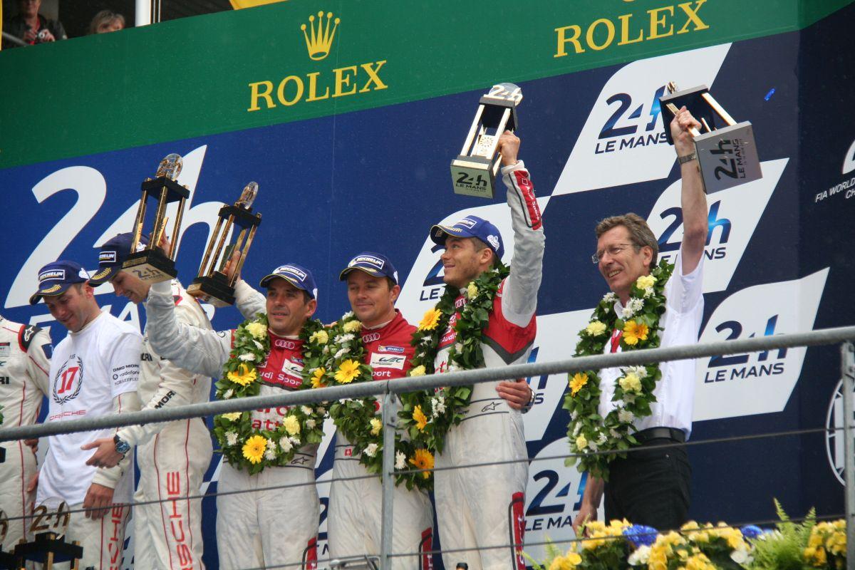 Audi se hisse à la 3ème marche du Podium aux 24 Heures du Mans 2015