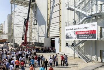 Audi célèbre le bouquet final du nouvel atelier de peinture N50 à Ingolstadt