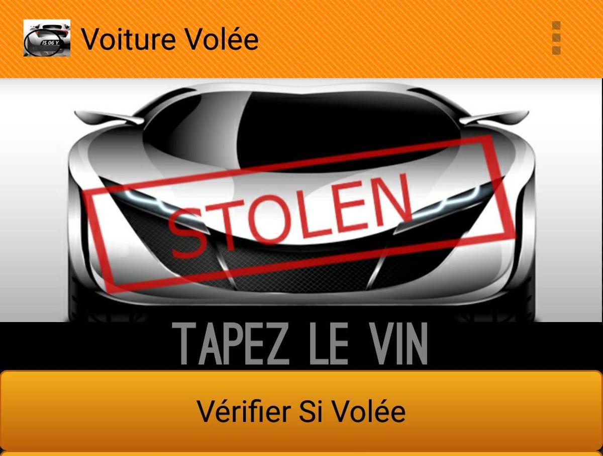 Stolen Car Checker - L'application qui vous permet de vérifier si un véhicule est volé