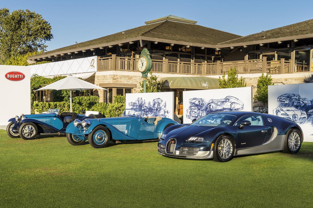 Pebble Beach 2015 - Bugatti présente les supersportives qui ont marqué l'histoire de l'entreprise