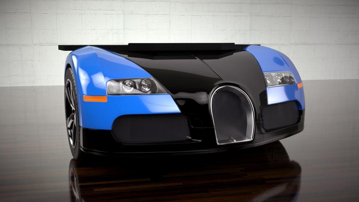 Une Bugatti Veyron ou une Lamborghini Murciélago en guise de bureau