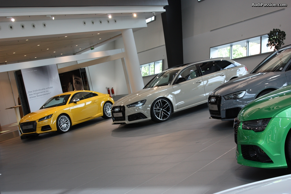 Espace Audi Exclusive de l'Audi Forum Neckarsulm