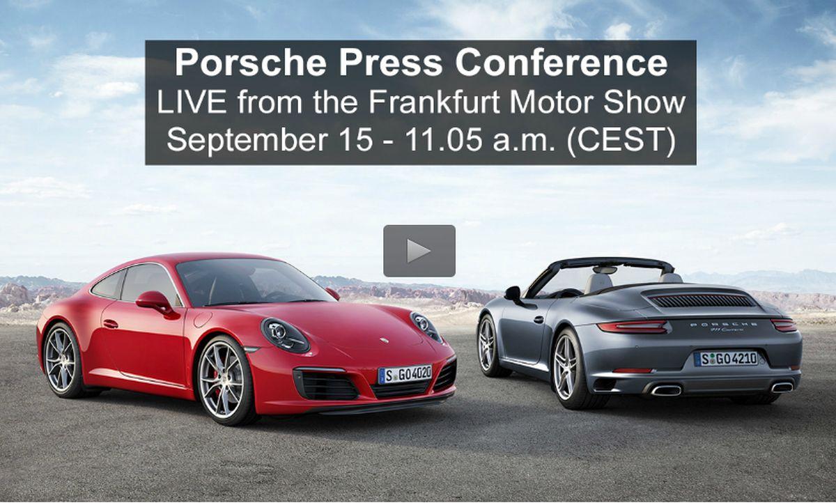 IAA 2015 - Live de la Conférence de presse Porsche