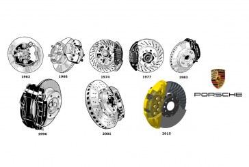 Porsche – 53 ans d'évolution des disques de frein