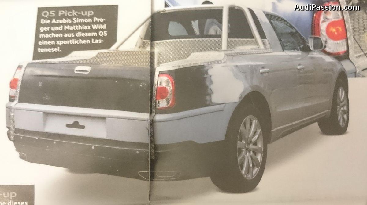 Audi Q5 Pick-up - Une réalisation unique par des apprentis Audi