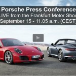 IAA 2015 – Live de la Conférence de presse Porsche