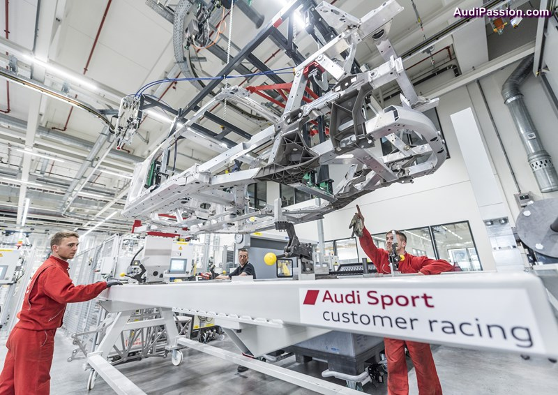 On September 21, 2015, production of the new Audi R8 LMS will be launched