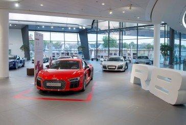 Exposition Audi R8 à l'Audi Forum Neckarsulm – 4900 ch en un même lieu