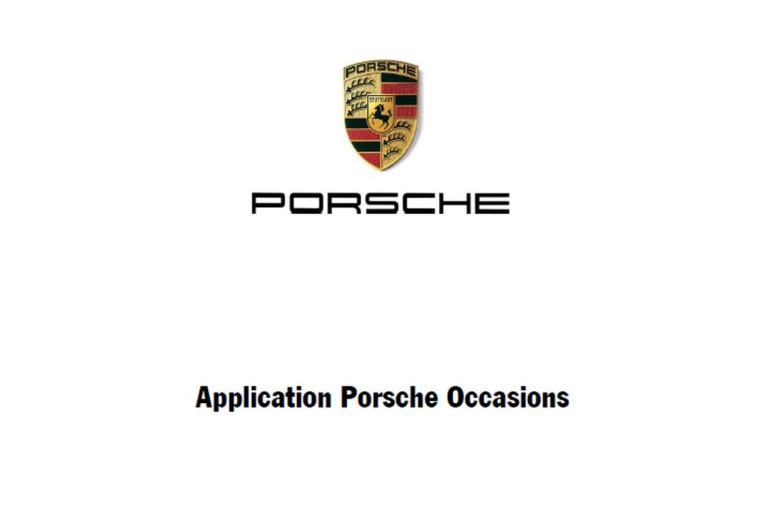 Lancement de l'application Porsche Occasions sur mobile sous iOS et Android