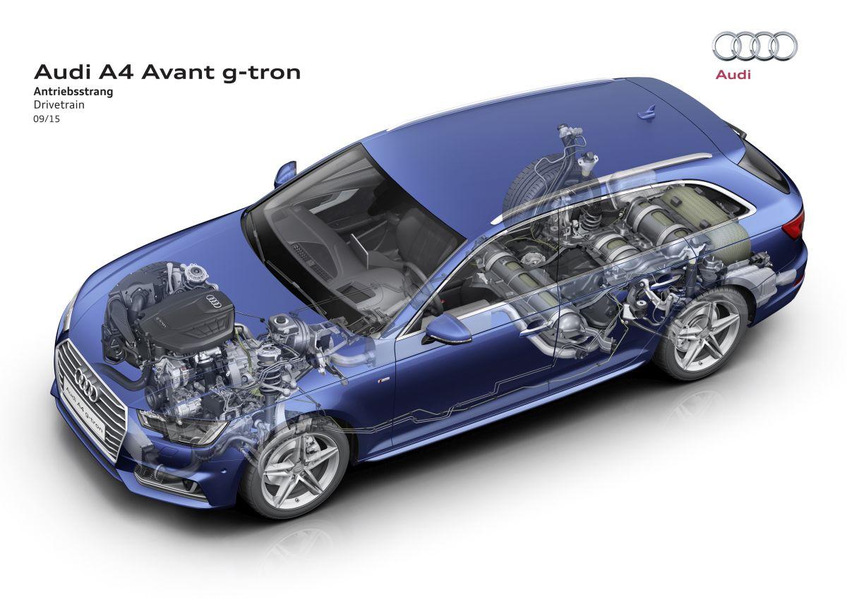 La nouvelle Audi A4 Avant g-tron fonctionnant au gaz