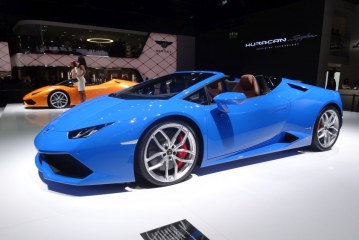 Live IAA 2015 – Lamborghini Huracan Spyder & Aventador SV Roadster