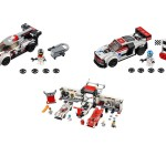 Audi R18, Audi R8 LMS, Porsche 919 et 917K en LEGO via la collection LEGO Speed Champions