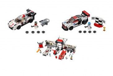 Audi R18, Audi R8 LMS, Porsche 919 et 917K en LEGO via la collection LEGO Speed Champions