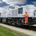 Livraison d'une locomotive hybride à l'usine Audi à Ingolstadt