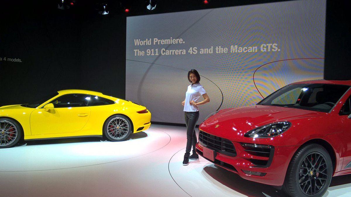 Tokyo 2015 - Première mondiale des Porsche Macan GTS et 911 Carrera 4S