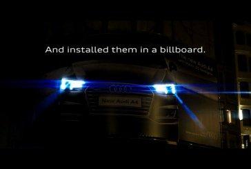 Vidéo – Campagne lumineuse originale pour le lancement de l'Audi A4 à Bruxelles