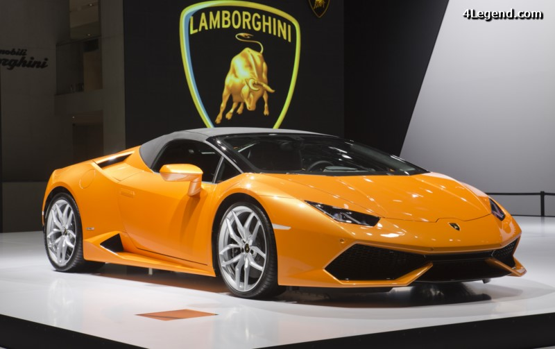 live iaa 2015 lamborghini huracan spyder aventador sv roadster. Black Bedroom Furniture Sets. Home Design Ideas