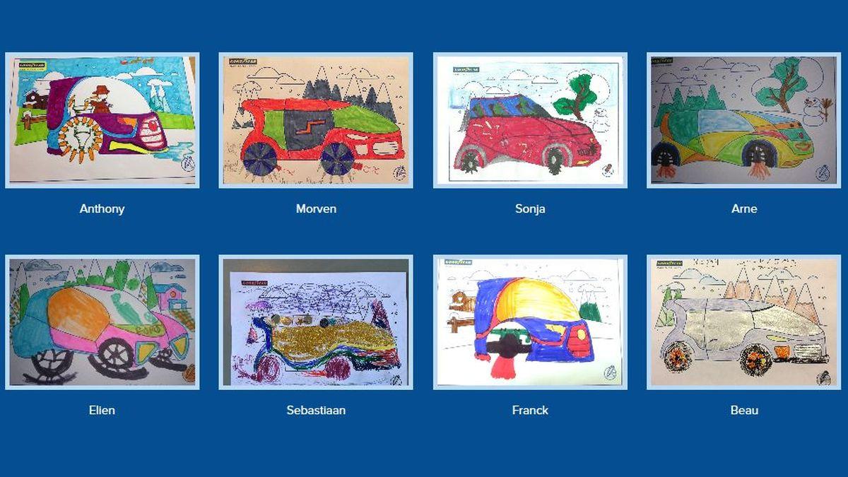 Goodyear invite les enfants à dessiner leur pneumatique hiver du futur
