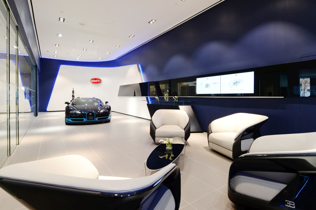 Le nouveau design des showrooms Bugatti à Manhattan et à Miami