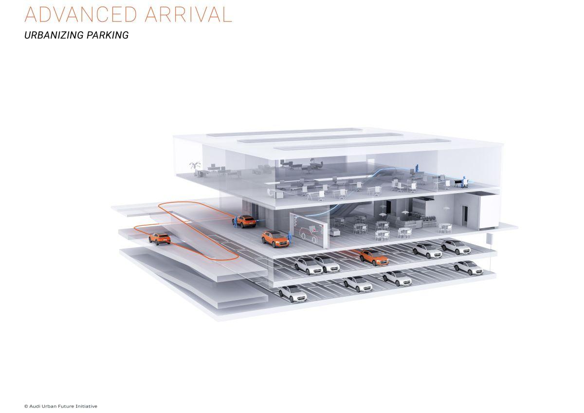Audi installe le stationnement automatique dans la zone de Boston